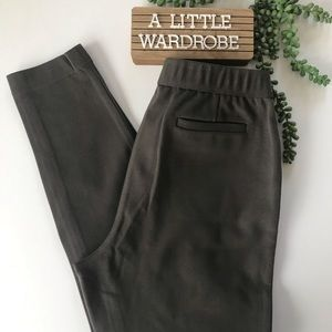 Lafayette 148 Olive Green Stretch Skinny Trouser